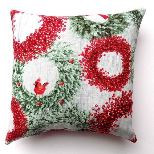 Wreath Balsam Fir Pillow, 5 inch