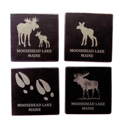 Set of Coasters, Made from Recycled Monson Slate, 4 inch