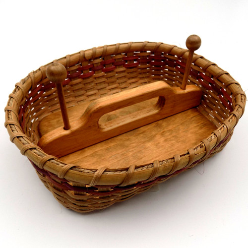 Paper Napkin Basket, Lupine Color Trim