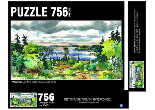 Moosehead Lake from Indian Hill Puzzle, 756 piece