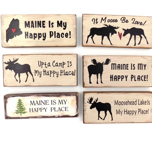 Fishing This is My Happy Place  Printed Handmade Wood Mini Sign