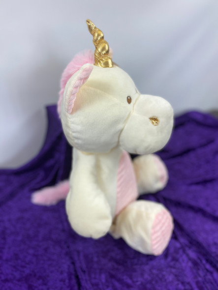 "20"" Plush Rattle Unicorn"
