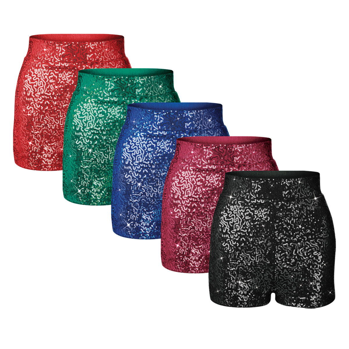 High Waist Sequin Shorts