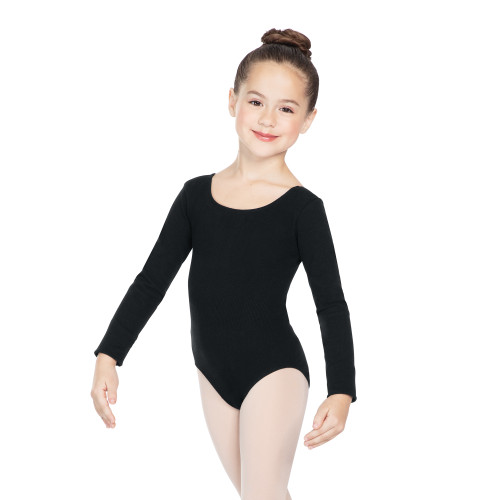 Seamless Long Sleeve Scoop Neck Leotard