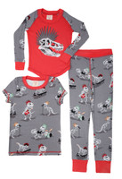 Dino Bones Kids 3 Piece PJ Set