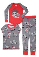 Munki Munki Dino Bones Kids 3 Piece PJ Set