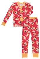 Pizza Night Kids Long John PJ Set