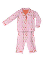 Pink Gnomes Kids Flannel Classic PJ Set
