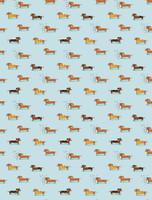 Wiener Dogs Kids Flannel Classic PJ Sets