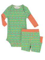 Teeny Foxes Infant Two-Fer Romper and Pant Set