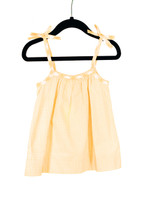Gingham Yellow Bow Tie Strap Tank Playwear