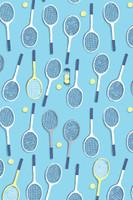 Tennis Rackets Jersey Surplice Tank and Short Romper