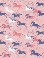 Horses Long Sleeve Knit Classic PJ Set
