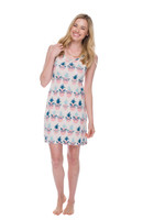 Pineapple Sassy Glasses Jersey Night Gown (M01588)