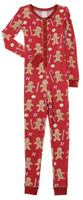 Red Gingerbread Thermal Kids Union Suit (MK00989)