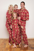 Red Gingerbread Family Sleep