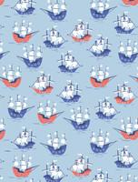 Pirate Ships Mens Jogger PJ Set (M01764)