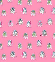 Pink Winter R2-D2 Women's Thermal Long John PJ Set