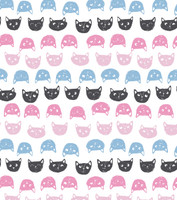 Cat Polka Dot Flannel PJ Pant