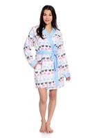 Cat Polka Dot Flannel Robe
