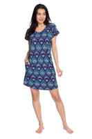 Egyptian Lily Women's Short Sleeve Nightgown