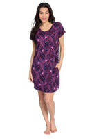 Palm Fronds Women's Short Sleeve Dolman Nightgown