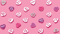 Valentine Candy Hearts Roll Print art