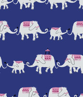 Marching Elephant Roll Print Art