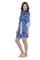Moths Women's Satin Kimono Robe