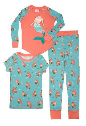 Munki Munki Mermaid Kids 3 Piece PJ Set