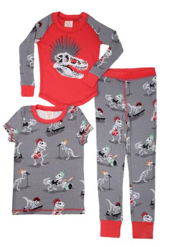 Dino Bones Kids 3 Piece PJ Set