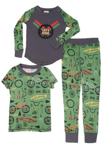 Let's Ride Kids 3 Piece PJ Set