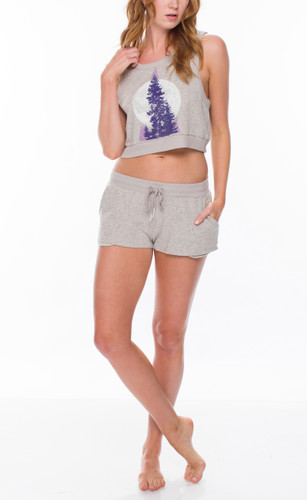Through the Pines Heather Tank and Short Set
