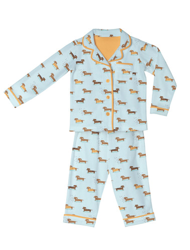 Wiener Dogs Kids Flannel Classic PJ Set