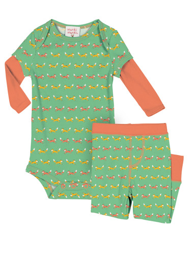 Teeny Foxes Infant Romper and Pant PJ Set