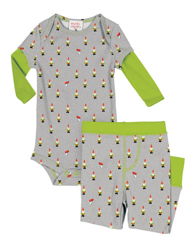 Teeny Gnomes Infant Romper and Pant Set