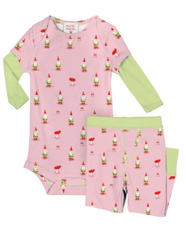 Garden Gnomes Infant Romper and Pant Set