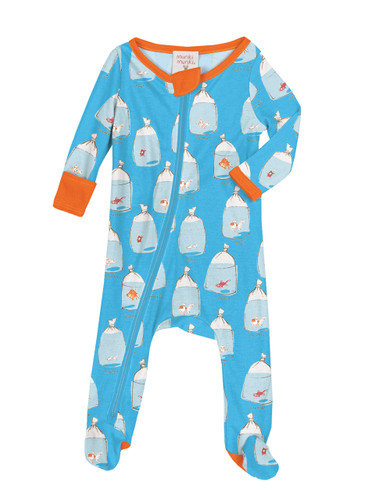 Goldfish Infant Zip Front Rib Blanket Sleepers