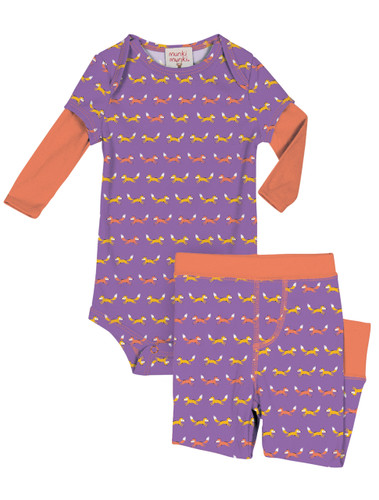 Teeny Foxes Infant Onesie and Pant Set