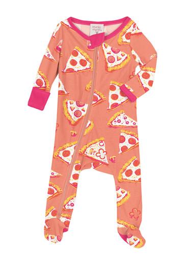 Pizza Night Infant Zip Front Rib Blanket Sleeper