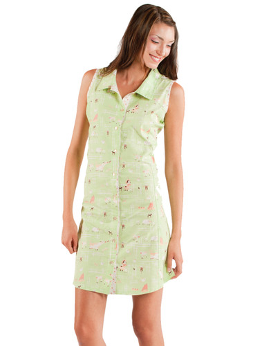 Kerrys Farm Sleeveless Poplin Nightshirt
