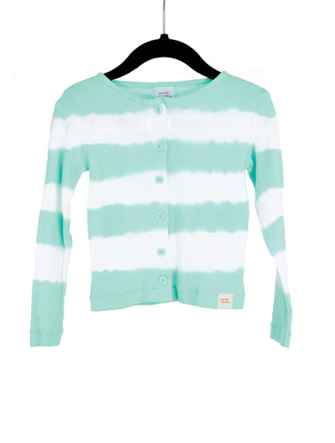 Cardigan Dyed Stripe-Blue