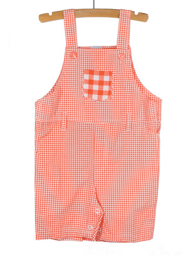 Gingham Red Overalls Playwear
