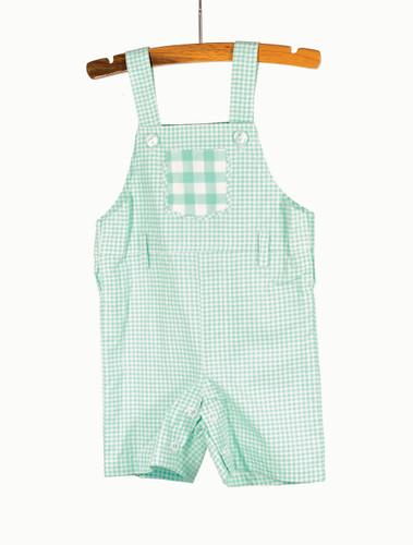 Gingham Blue Overalls Playwear