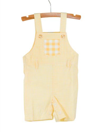 Gingham Overalls Yellow