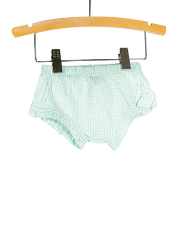Blue Gingham Knit Bloomer with