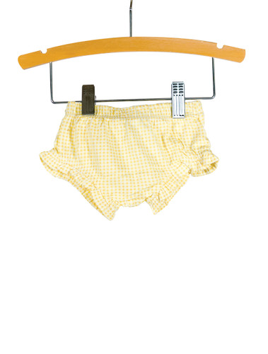 Yellow Gingham Knit Bloomer