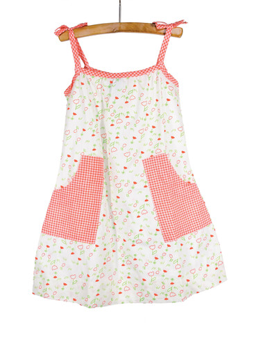 Tulips Woven Patch Pocket Dres