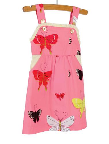 Butterflies Woven Ruffle Dress