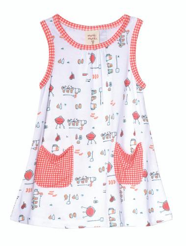 BBQ Knit Dress with Patch Pock